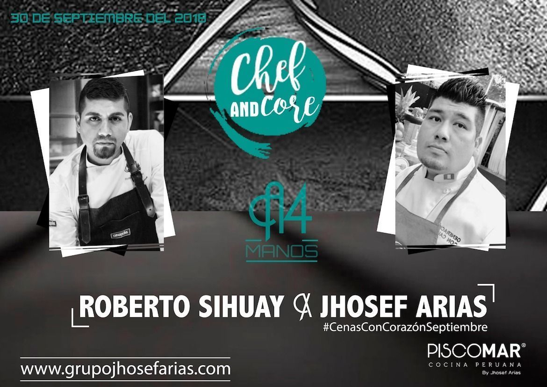 Experiencia 4 Manos #CenasconCorazón Roberto Sihuay y Jhosef Arias – 30 sept 20:00